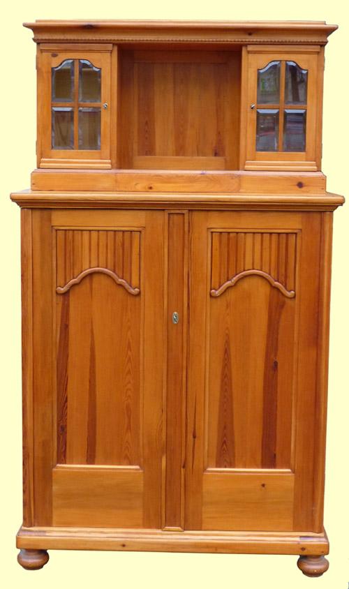 weichholz vertiko mit aufsatz um 1920 ebay. Black Bedroom Furniture Sets. Home Design Ideas