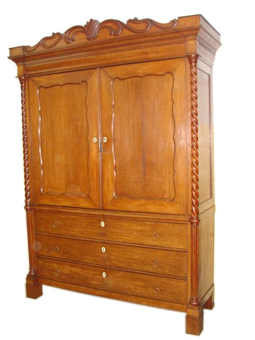 holl ndischer dielenschrank w scheschrank in eiche ebay. Black Bedroom Furniture Sets. Home Design Ideas