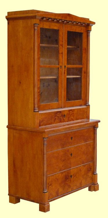 biedermeier aufsatzkommode in birke ebay. Black Bedroom Furniture Sets. Home Design Ideas