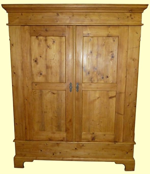 biedermeier dielenschrank kleiderschrank in weichholz ebay. Black Bedroom Furniture Sets. Home Design Ideas