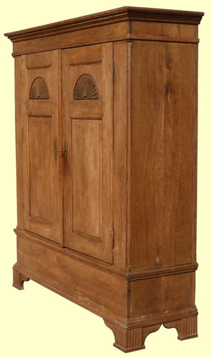 biedermeier dielenschrank sonnenschrank in eiche ebay. Black Bedroom Furniture Sets. Home Design Ideas